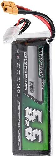Dilwe Batterie de 11.1V LiPo, Batterie LiPo Rechargeable de 5500mAh 35C avec Prise XT60 pour Voiture Bateau RC
