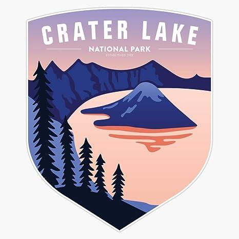 "Crater Lake Wizard Island 3.5/"" Car Truck Window Bumper Graphics Sticker Decal"