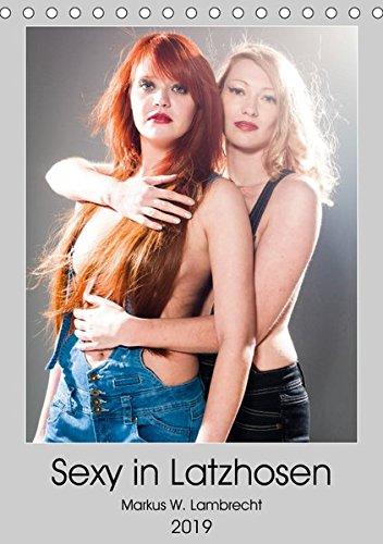 Sexy in Latzhosen (Tischkalender 2019 DIN A5 hoch): Zwei heiße Frauen in sexy Latzhosen! (Geburtstagskalender, 14 Seiten ) (CALVENDO Menschen)