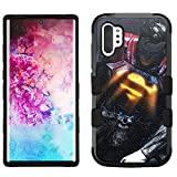 for Galaxy Note 10 Plus, Hard+Rubber Dual Layer Hybrid Shockproof Rugged Impact Cover Case - Superman #ZLSR