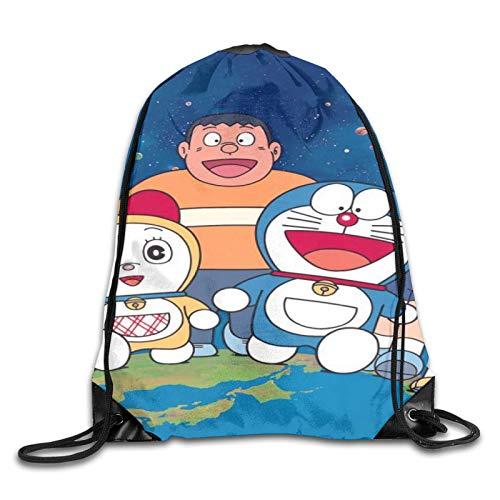 Mochila con Cordón,Bolsa De Playa,Bolsos De Gimnasio,Drawstring Bolso Doraemon-Ra