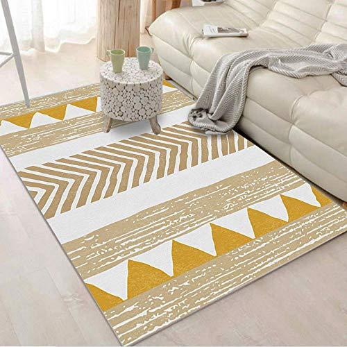 HXJHWB Alfombra habitación Lavables - Línea Triangular Costura Alfombra Interior Sala de Estar Estudio sofá Mesa de Centro impresión 3D-El 140CMx200CM