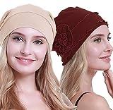 osvyo Chemo Headwear Turban pour femme – Bonnet contre la perte de cheveux avec emballage scellé - - Taille Unique