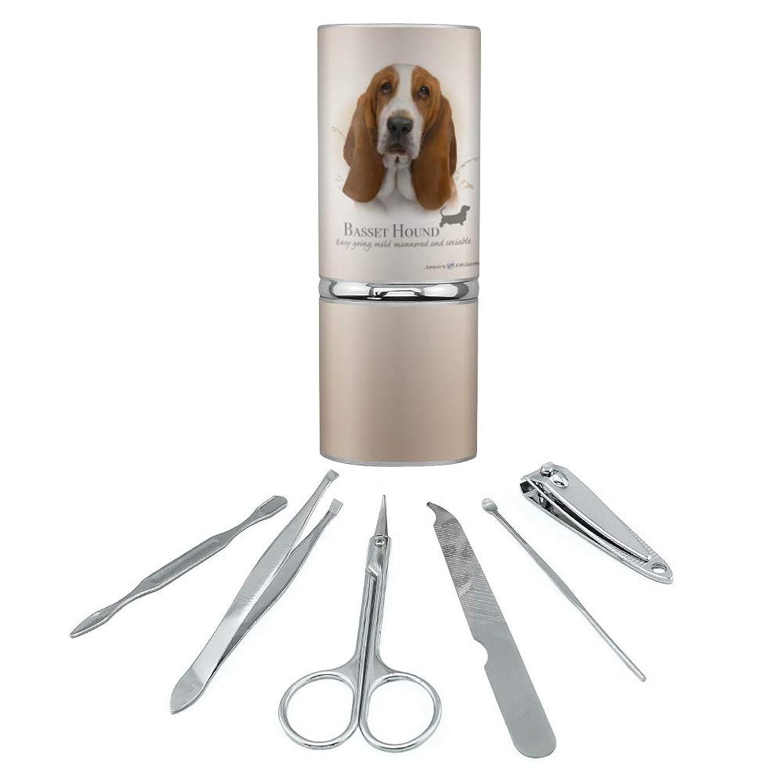 カラス欲望バセットハウンド犬の品種ステンレススチールマニキュアペディキュアグルーミングビューティーケアトラベルキット