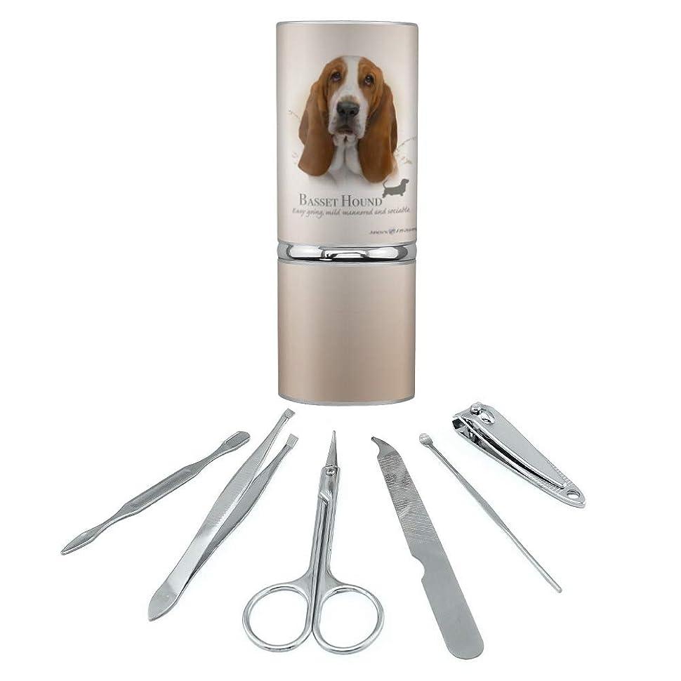 執着宿漏斗バセットハウンド犬の品種ステンレススチールマニキュアペディキュアグルーミングビューティーケアトラベルキット