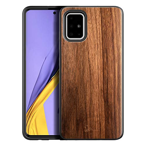 E-Began Case for Samsung Galaxy A51 (Not Fit A51 5G Version), [Real Natural Walnut Wood], Ultra Slim Protective Bumper Shockproof Phone Case (Every Piece is Unique) -Wood