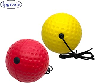 Systreek 2Pack Boxing Reflex Ball, Training Boxing Ball on String for Kids and Adults, Improve Focus, Reaction, Agility and Hand Eye Coordination, Training Equipment for Boxing, MMA and Combat Sports