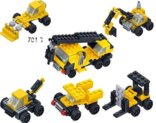 ML Juguetes De Construcción Mini Coches Juegos Vehículos para Niños Juego Tractor Camión Volquete Excavadora Remolque Juguete de Huevos Carro Coches Aviones Tractores Juguete Educativo (Amarillo)