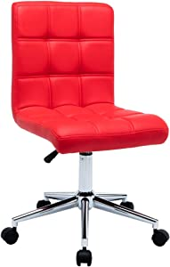Porthos Home Finch Office Chair Red