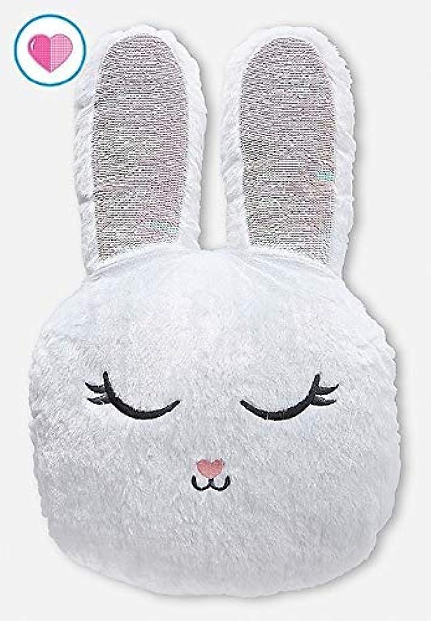 石油いらいらさせる軽くJustice Flip Sequin Pillow Snow Bunny [並行輸入品]