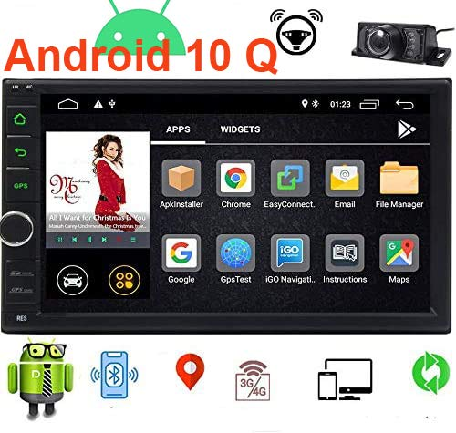 EINCAR Android 10.0 Car Stereo 7 Inch Double Din Car Radio with GPS Navigation System in Dash Headunit 2 Din Car Video Audio Player Bluetooth WiFi SWC Mirror Link Wireless Rear View Camera
