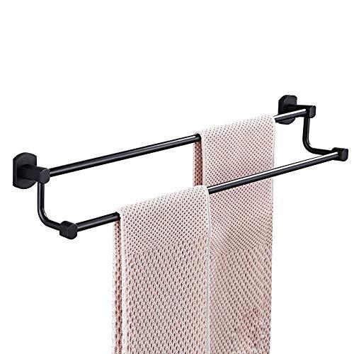 LIYONG Handteller Schienen Alle Kupfer schwarz Doppel Tuch Bar Badezimmer Handtuch Bar Doppelbarm Bad Zubehör Handtier Rack (Größe: 5 HLSJ (Size : 45X12cm)