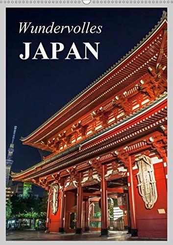 Wundervolles Japan (Wandkalender 2020 DIN A2 hoch): Eine Reise durch das Land des Lächelns (Planer, 14 Seiten )