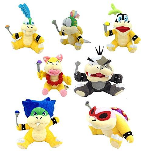 Yijinbo Super Mario Bros Koopalings Bowser Lemmy Larry Roy Wendy O. Morton Larry Iggy Animal de Peluche