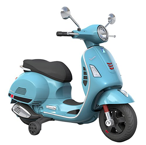 PIAGGIO Moto Scooter Elettrico Per Bambini 12V Vespa GS Sport Celeste