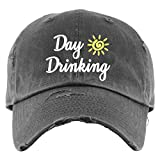 Day Drinking Hat | Distressed Baseball Cap OR Ponytail Hat | Fun Beach Hats for Women