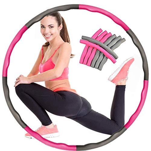 AIWITHPM Hula Hoop für Fitness Hula Hoop für Erwachsene & Kinder Einstellbar Breit 48–88 cm Hula-Hoop,Für Fitness/Sport/Zuhause/BüRo/Draussen/Bauchformung