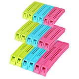 Sealing Clips, Plastic Food Sealing Clips For Kitchen, Air Tight Clips for Snack Coffee Potato Food Bags, Reusable Food Storage Sealing Clamps, Assorted Colors & Sizes (Set of 18)