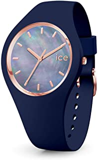 Ice-Watch - Ice Pearl Twilight - Montre Bleue pour Femme avec Bracelet en Silicone - 016940 (Small)