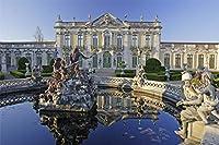 数字キットによる5D DIYダイヤモンド絵画、ポルトガルの宮殿家の装飾のためのフルドリル刺繡クロスステッチ絵画 30x40cm