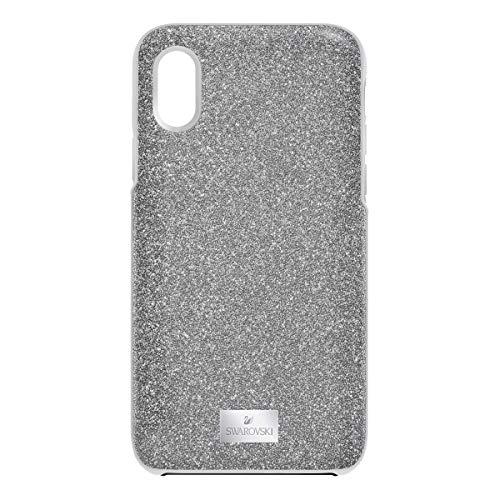 Swarovski High Custodia per Smartphone con Bumper Integrato, iPhone X, Argento