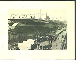 Midway Class Aircraft Carrier commissioning ceremony 11x14