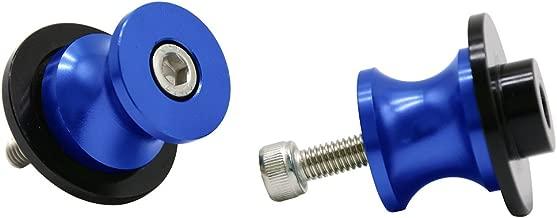 2pcs M6 X1.5 Motorcycle CNC Swing arm Sliders Spools Stand Screw for Yamaha FZ01 FZ03 FZ09 FZ10 YZF R1 R3 R6 R25 R125 R1000 R6S FZ1 FZ6 FZ8 FZS1000 FZS600 Aprilia RSV4 R Tuono V4 Dorsoduro (Blue)