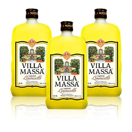 Limoncello Villa Massa of Sorrento (Pack 3 Bottles-satin Finish)