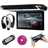 XTRONS 10 inch HD Digital TFT Monitor Car Roof Flip Down Overhead DVD Player Touch Panel Game Disc...