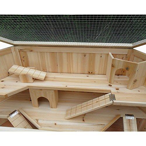 Kaninchenhaus Rattenkäfig Nagervilla Kleintierkäfig Hamsterkäfig Holz Stall Maus - 4