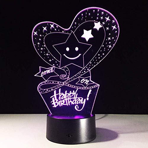 LED Night Light Lamp, Room Party Decorations Decor Christmas Birthday Xmas Gifts Present Bedside Lamp for Girls Boys Kids Children Age