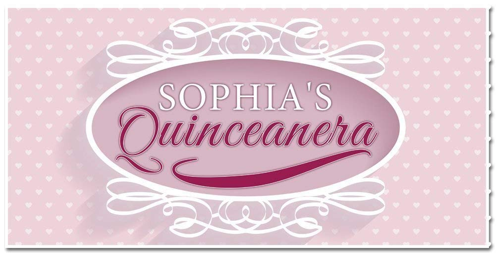 Charlotte Mall Mis Quince Quinceañera Our shop OFFers the best service Birthday Banner