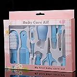 10-teiliges Set Baby Kinder Nagelhaar Gesundheitspflege Thermometer Nasenreiniger Zahnbürste Sicherheitswerkzeug Neugeborene Baby Pflege Fellpflege Bürste Kit