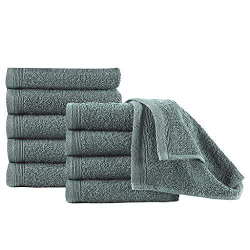 pedkit Toallas de cortesía 10 uds algodón Verde 450 g/m² 30x50 cm