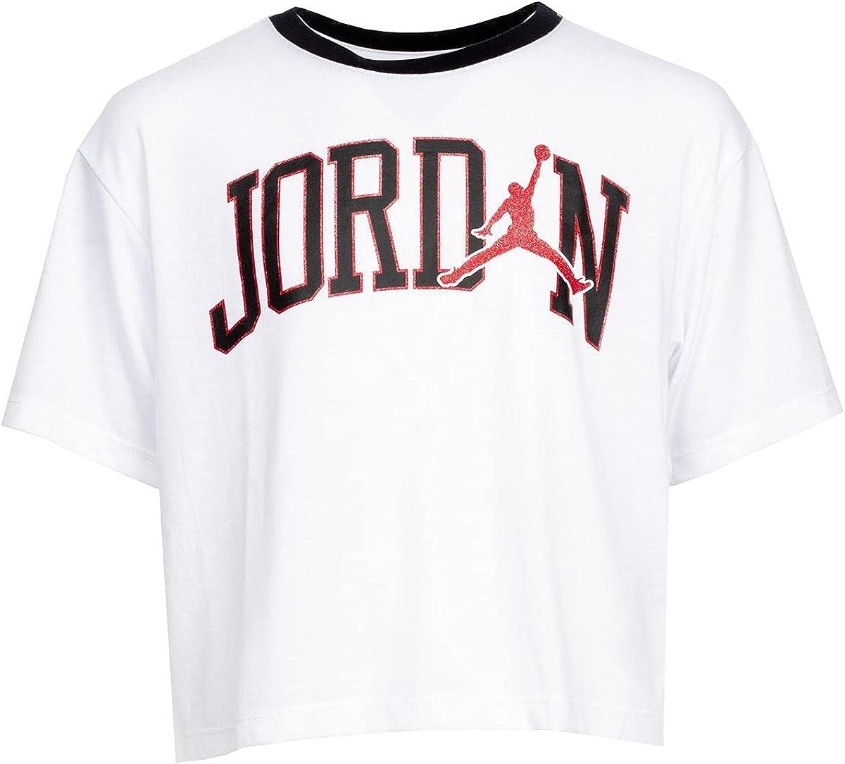 Jordan Jumpman Girls T-Shirt Tee Cropped Kids Size M, L, XL