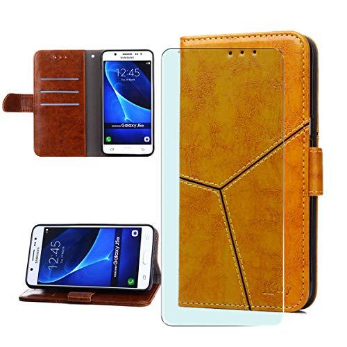 WLSM Handyhülle für ZTE Blade A7 2020 Hülle + Screen Schutzfoli, Wallet Case Handy Klapphülle Leder Flip Case Schutzhülle Handytasche mit Kartenfach Ständer Lederhülle (6.09