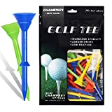 """Champkey Big Cup Plus 3-1/4"""" Golf Tees(Pack of 30pcs or 50Pcs) - Oversize Head Reduce Friction & Side Spin,More Durable & Stable Golf Plastic Tees"""