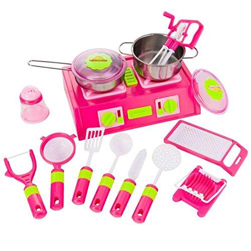 Kitchen Set Coffret cuisinière et dinette 15 pièces