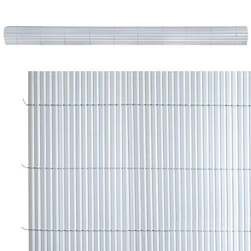 Cañizo ocultación Artificial de PVC Gris de 100x300 cm - LOLAhome