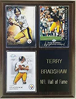 Frames, Plaques and More Terry Bradshaw Pittsburgh Steelers 3-Card 7x9 Plaque