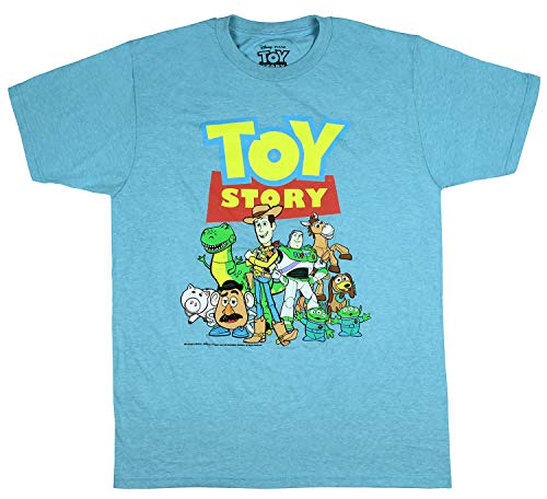 Los Hombres Disney Pixar's Toy Story Personajes clásicos Graphic T-Camisa (Grande)