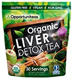 Organic Liver Detox Tea - Matcha Green Tea, Milk Thistle, Coconut Water, Spirulina, Ginger, Cinnamon...