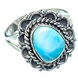 Ana Silver Co Larimar Ring Size 8 (925 Sterling Silver) - Handmade Jewelry, Bohemian, Vintage RING13041