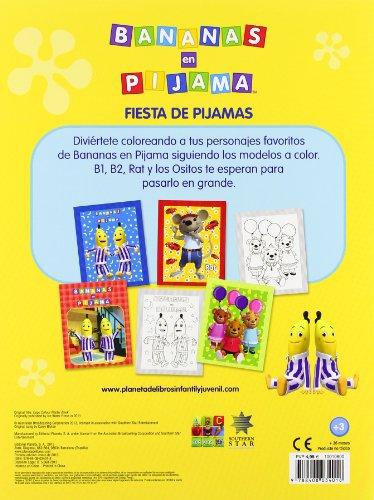 Bananas en pijama. Fiesta de pijamas: Colorea siguiendo el modelo