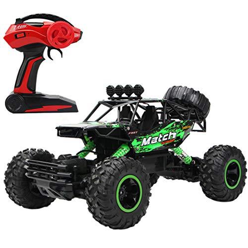 HYMAN Coche de control remoto 1:12 2.4G 4WD extra grande vehículo todoterreno escalada coche monstruo camiones modelo juguete con motor dual