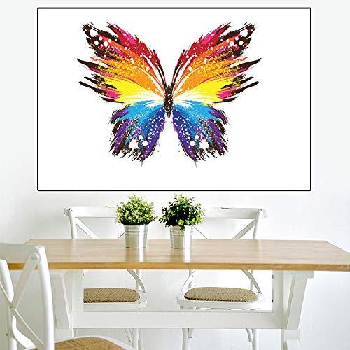 yaonuli Tierkunst Kunstbild Schmetterling große HD Moderne Leinwanddruck Ölgemälde Home Wanddekoration rahmenlose Malerei 40x60cm