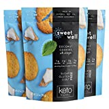 Sweetwell Coconut Cookies, Sugar-Free, Keto-Friendly Snack with Collagen, Stevia-Sweetened Cookie Pack (3-Pack)