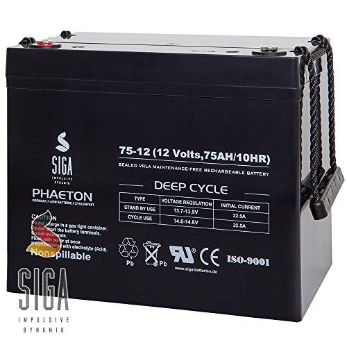 Akku 12V 75AH AGM Gel Batterie Boot Elektromobil Rollstuhl Seniorenmobil Trendmobil Invacare 80AH