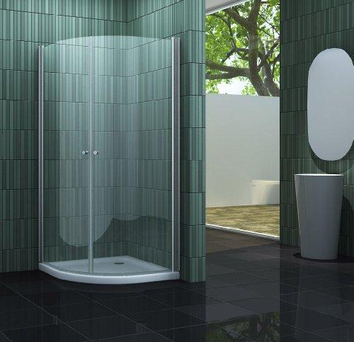 Duschkabine SCALLO 90 x 90 x 190 Viertelkreis ohne Duschtasse