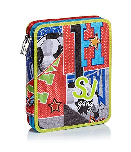 Astuccio Maxi 2 ZIP SJ GANG, COLLEGE E SPORT, Multicolore